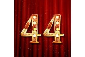 44 anniversary elegance gold logo