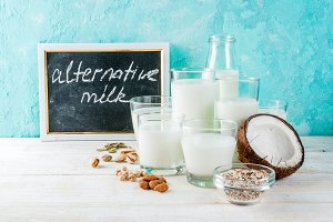 Vegan alternative non-dairy milk