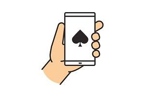 Online casino color icon