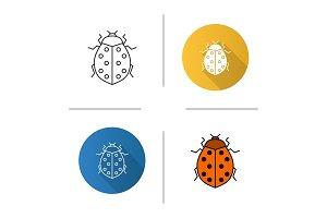 Ladybug linear icon