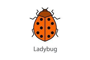 Ladybug color icon