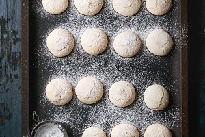 Homemade almond cookies