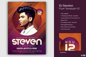 DJ Session Flyer Template V2