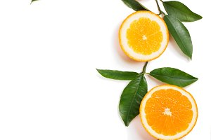 Fruit background - oranges.