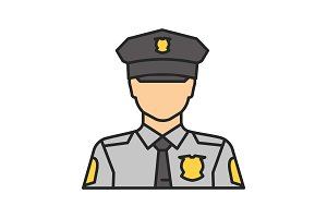 Policeman color icon