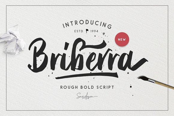 Briberra Rough Bold Script