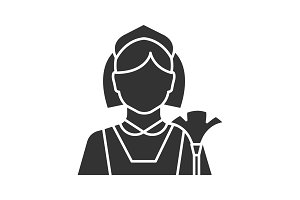 Maid glyph icon