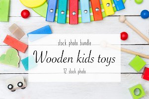 Wooden kids toys bundle
