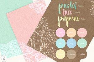 Lace pastel cardstock digital paper