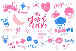 Good Luck - Retro Pop Stickers