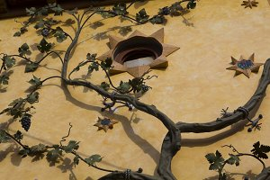Grapevine decoration in a house