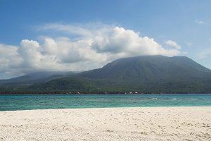 Beautiful beach on tropical island.Camiguin, Philippines.
