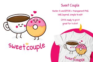 Sweet Couple Valentine's Day clipart