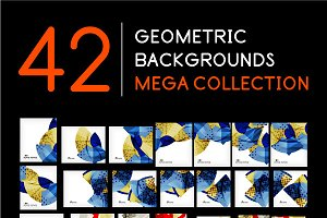 42 geometric backgrounds set 3