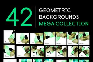 42 geometric backgrounds set 5