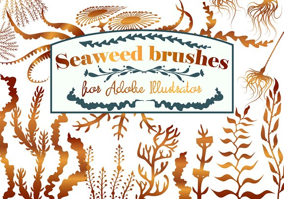 Seaweed Pattern Brushes For AI