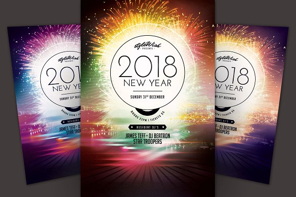 2018 new year flyer flyers