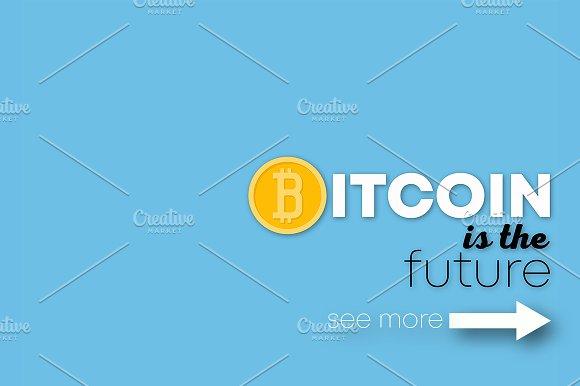 Bitcoin. Posters Set. EPS10 + JPEG.
