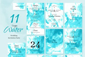 Magic Water. Wedding Invitations