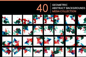 40 geometric backgrounds set 1