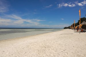 Beautiful beach on tropical island. Philippines, Bohol.
