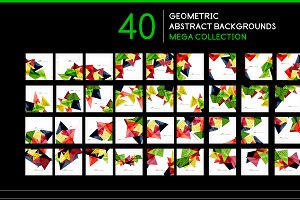 40 geometric backgrounds set 2