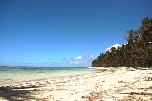 Beach on a tropical island. Philippines,Siargao.