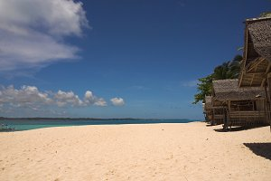 Beautiful beach on tropical island. Daco island, Philippines, Siargao.