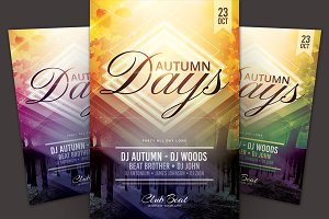 Autumn Days Flyer