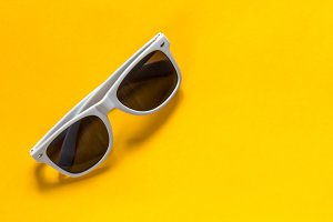 Sunglasses white frame