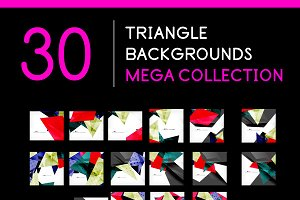 30 triangle backgrounds set 1