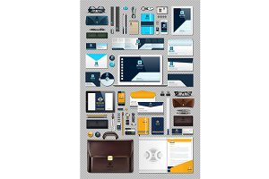 Vector 50 business stationery bundle