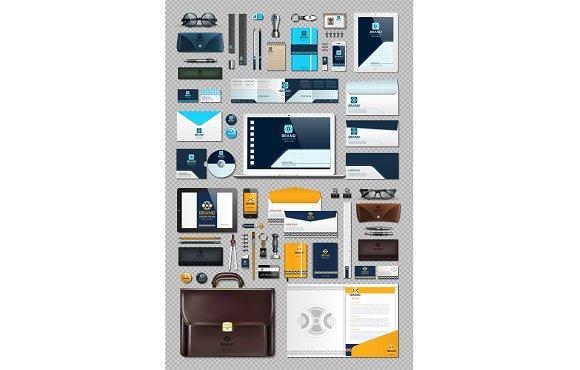 Vector 50 business stationery bundle