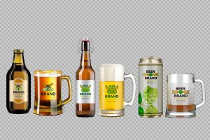 Vector 6 bundle beer glasses set