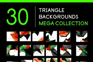 30 triangle backgrounds set 2