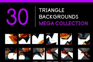 30 triangle backgrounds set 3