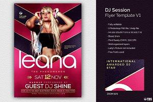 DJ Session Flyer Template V1