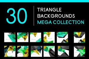 30 triangle backgrounds set 4