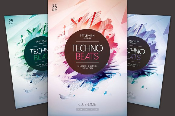 Techno Beats Flyer