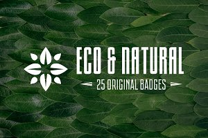 Eco and Natural Logo and Badges
