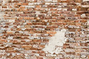 blue, wall, brick, background, textu