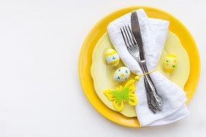 Easter dinner concept