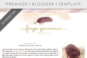 Premade Blogger Template - Freya