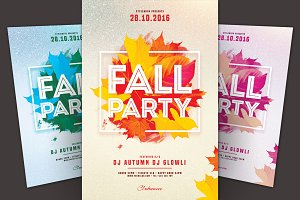 Fall Party Flyer
