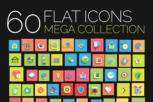 Flat icons mega collection