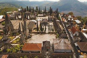 Hindu temple on the island of Bali.Ulun Danu Batur.