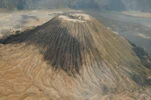 Volcano with a crater. Jawa, Indonesia.