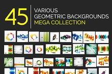 45 geometric backgrounds set