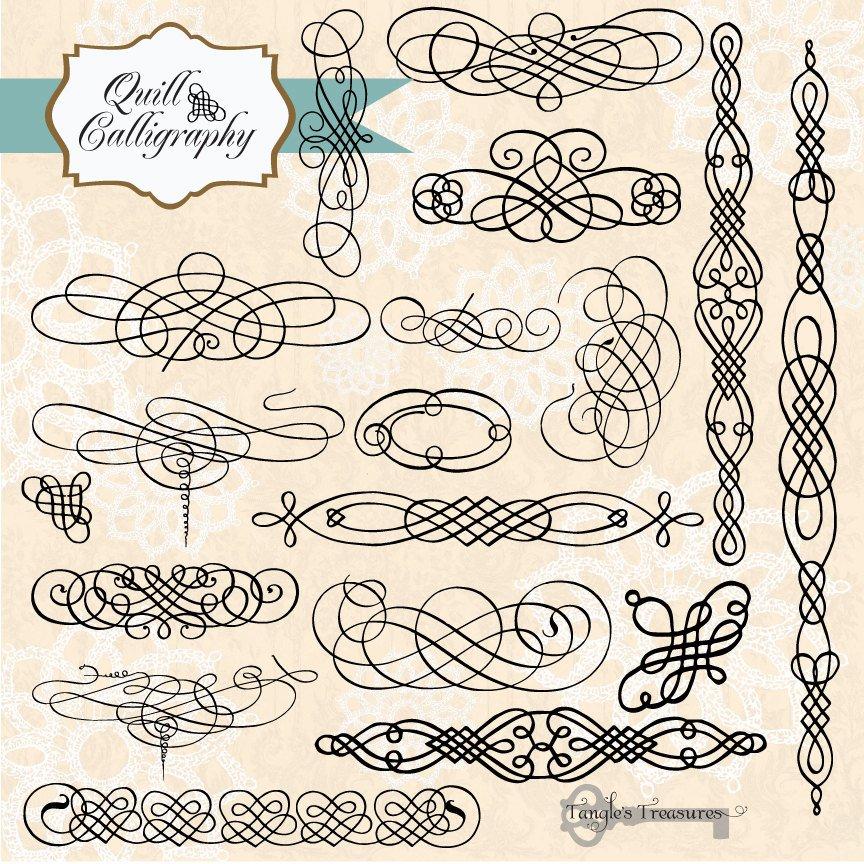 Vintage Calligraphy Illustrations Creative Market