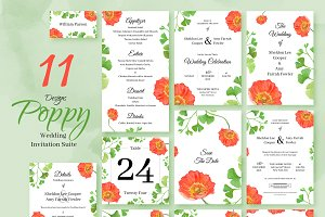 Poppy. Wedding Invitation Package